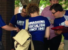 Young Liberal students register to participate in the National Union of Students National Conference (Catalyst Magazine, 2015)